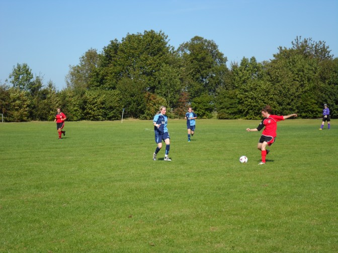 Women's football match