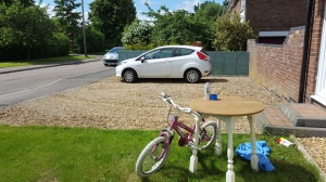 Table and bike from the scrap yard